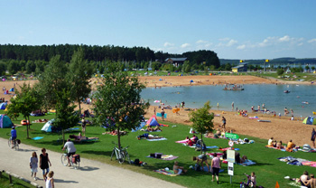 Großer Brombachsee, Strand bei Ramsberg