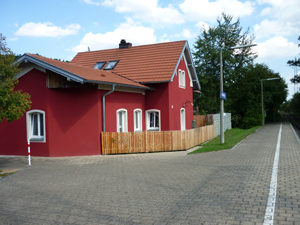 Blick auf den Bahnhof Ramsberg