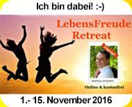 Lebens-Freude-Kongress Online 2016 Lebens-Freude-Retreat Irmgard Bronder Lebensberater Kranichfeld